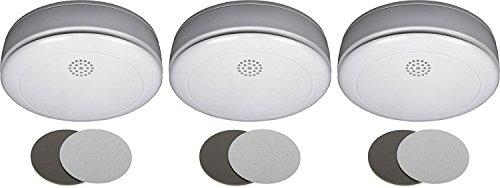 Smartwares 10-Jahres- VdS Rauchmelder mit Magnethalter, 3er Set, Q zertifiziert, RM218SET/3
