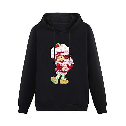 Anime & Strawberry Shortcake & Custard Classic All-Match Hoodie boy Style Pullover