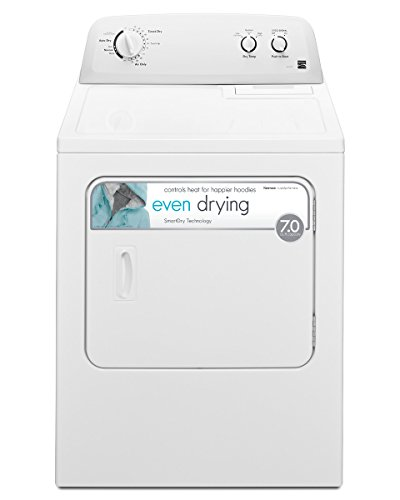 Kenmore 72332 Front Load Gas Dryer with Wrinkle Guard Total Capacity, 7.0 cu. ft, White