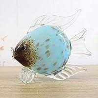 彫像の彫刻人工動物の装飾品庭の装飾手作りのガラスを口に釉薬をかけた魚の工芸品ホームクリエイティブな家具