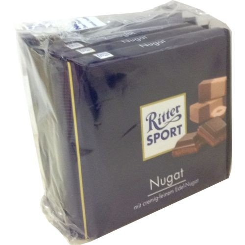 Ritter Sport - Nougat Schokolade - 100g 5er Pack