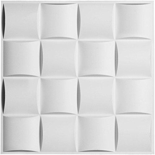 Ekena Millwork WP20X20BAWH-CASE-20 Baile Design – Juego de 20 paneles decorativos para pared, color…