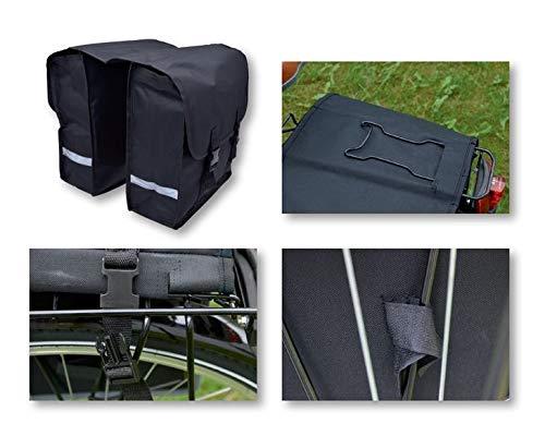 Bike-Doppeltasche City Gepäckträgertasche Fahrradtasche, Bike Packtasche 30 L.