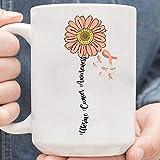 N\A Taza de café del superviviente de la Familia de la Conciencia del cáncer uterino