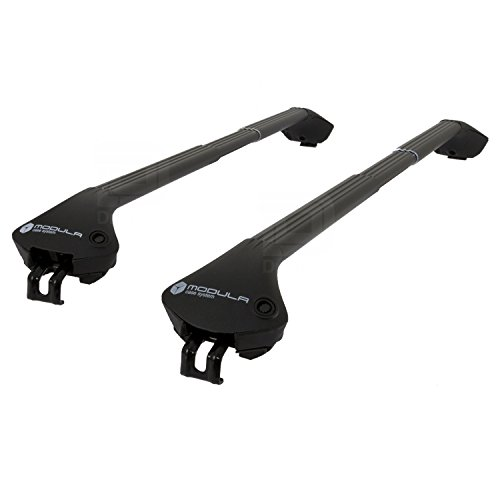 Modula MOCS0075-0721b Aluminium Zwart Roof Bar Set (Closed Roof Rails)