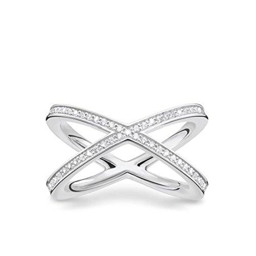 THOMAS SABO Damen-Ring 925 Sterling Silber Größe 54 TR2138-051-14-54