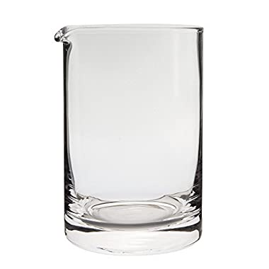 Behind The Bar Hand Blown Cocktail Mixing Glass - 20 Ounce Capacity