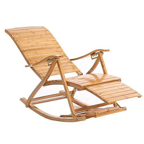 Bambus Schaukelstuhl Erwachsene Nickerchen Chair Recliners Klapp Mittagspause Balkon Stuhl Couch Lounge Chair Sessel Strand Stuhl Alter Mann Stuhl Terrasse Holzschaukel Stuhl
