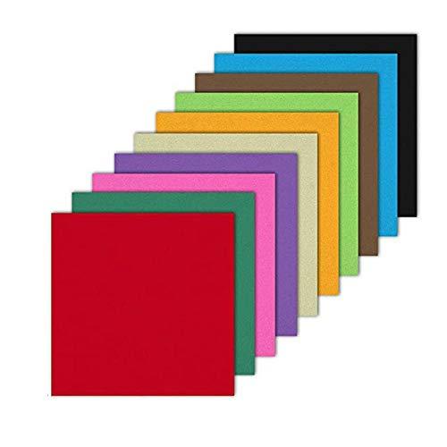 Regalos para niños de Papel de Colores doblado Cuadrado Hecho a Mano Origami de Arte Hecho a Mano - 200 Piezas 15,2