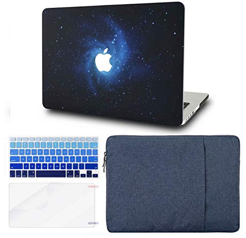 KECC Laptop Case for MacBook Pro 13' (2020/2019/2018/2017/2016,Touch Bar) w/Keyboard Cover + Sleeve + Screen Protector (4 in 1 Bundle) Hard Shell A2159/A1989/A1706/A1708 (Blue)