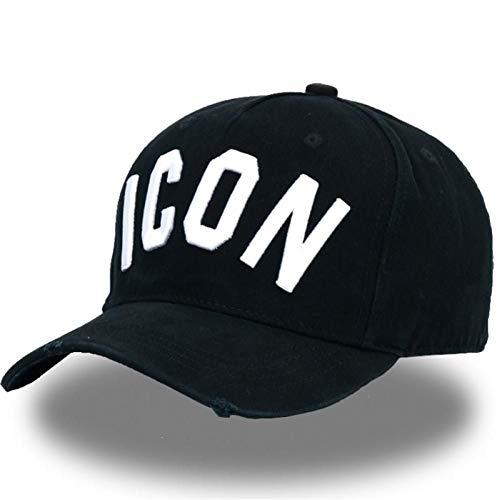 FBXYL Berretti da Baseball in Cotone Icon Logo Lettere Dsq Cappellino di Alta qualità Uomo Donna Cappello Design Cliente Cappellino Nero Cappelli papà