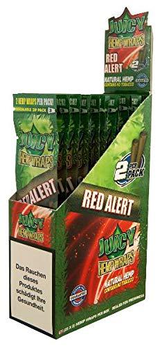 ledermodefashion Juicy Jay Hanf Wrap - Natur Tabak frei - 2 pro Packung (Red Alert, 3)