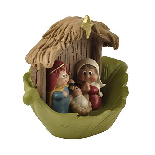 sympuk Baby Jesus Belén Figuras de Navidad Estatua de Madera de la Natividad Escena de la casa Estatuilla Decoración Adorno Pesebre de Navidad Adornos de la Natividad Set Regalos para el Easy to Use