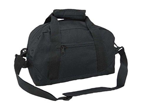"DALIX 14"" Small Duffle Bag Two Toned Gym Travel Bag (Black)"