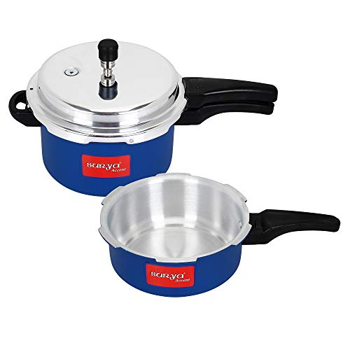 Surya Accent Combo of Aluminium Outer Lid Pressure Cooker, 2...