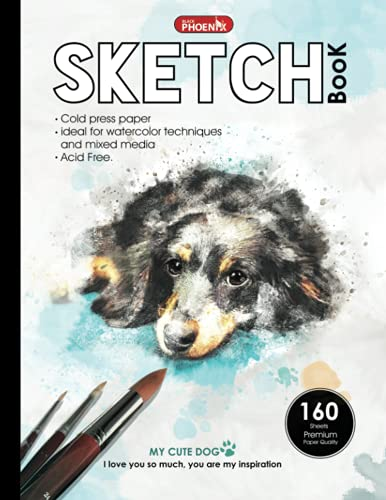 sketchbook large , sketch pad for artists Drawing watercolor high Quality paper: Drawing Pad, 8.5' x 11' In, (21.59 x 27.94 cm)160 Pages Bound Sketch ... professional, & Adults design in Matte cover