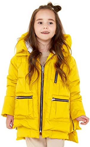 Orolay Children Hooded Down Coat Girls Quilted Puffer Jacket Boys Winter Jackets Yellow 130CM product image