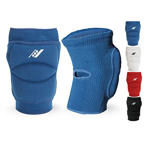 Rucanor Smash Knieschoner, 2 Stück Knieschutzer für Sport, Kniepolster mit Seitenaufprallsystem, Polyster, Unisex, L, Blau