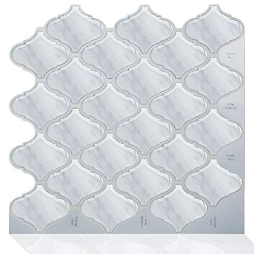 Lianlili 10 unids Decoración para el hogar Autoadhesivo Cocina Impermeable Vinilo Mosaico Peel and Stick Backsplash Pegatinas de baño Azulejos (Color : MSLB 108)