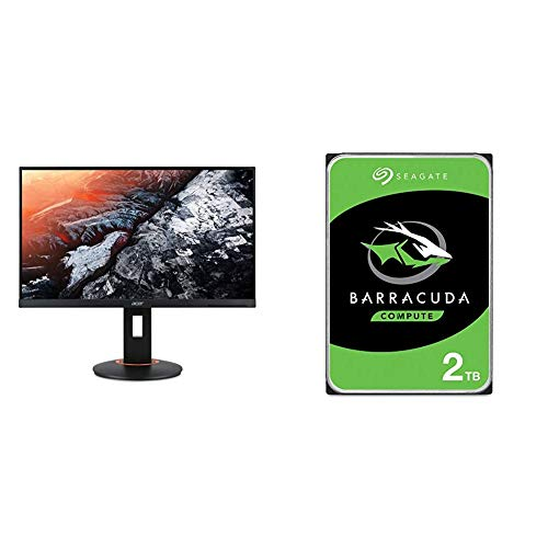 "Acer XF270HU Cbmiiprx 27"" WQHD (2560 x 1440) TN AMD FreeSync Gaming Monitor, 144Hz Refresh Rate, 1ms,Black & Seagate Barracuda 2TB Internal Hard Drive HDD – 3.5 Inch SATA 6Gb/s 7200 RPM 256MB Cache"