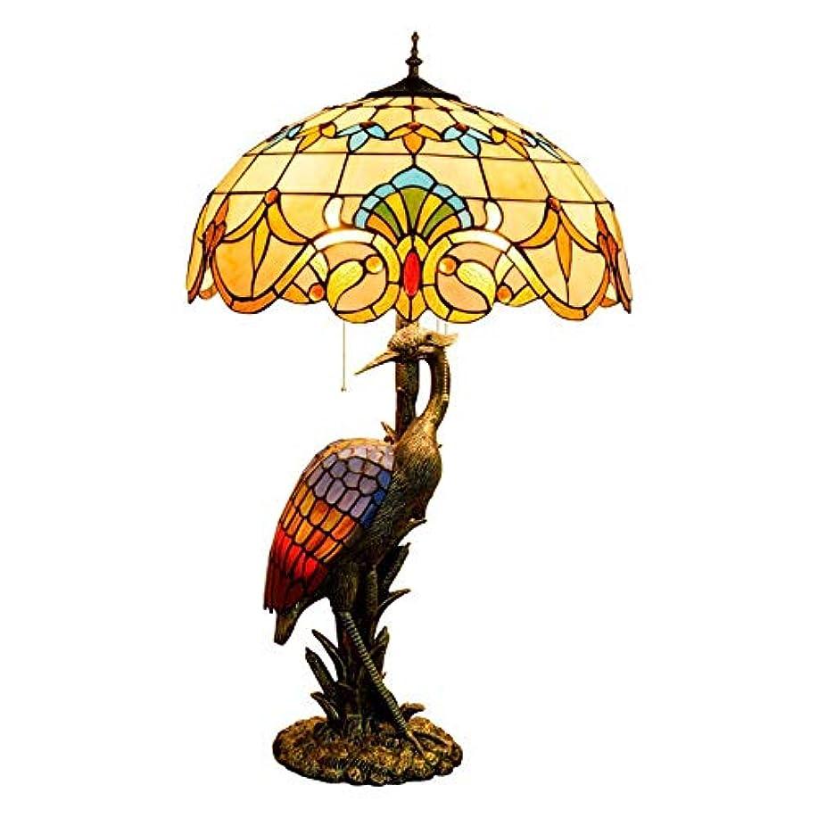 音楽家郡タイト20インチのテーブルランプ、バロックとAND女性クレーンベースステンドグラスのランプとティファニースタイルテーブルライト、レトロリビングルームデコレーションライトE27
