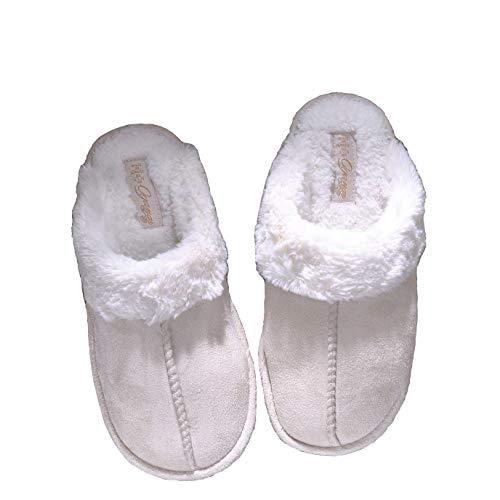 Miaows Pantofole Donna Home Morbido Antiscivolo Cotone Scarpe Caldo Peluche Y1 (EU39-40-41, A)