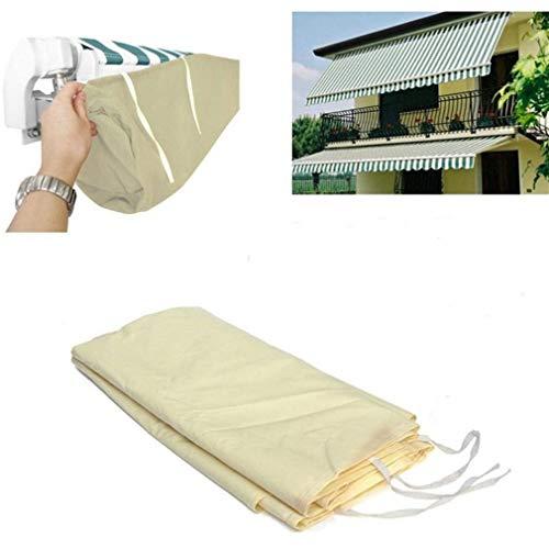 SUNKYOO Cubierta para toldo de patio, impermeable bolsa de almacenamiento de invierno, resistente 600D Oxford,Protector de lluvia para refugios de jardín, fácil de instalar (beige)