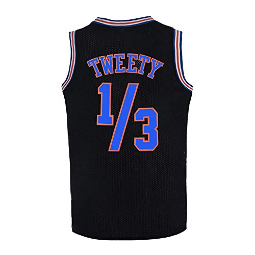 Camiseta de baloncesto para hombre 1/3 Tweety Space Jam Jersey 90S - negro - Medium
