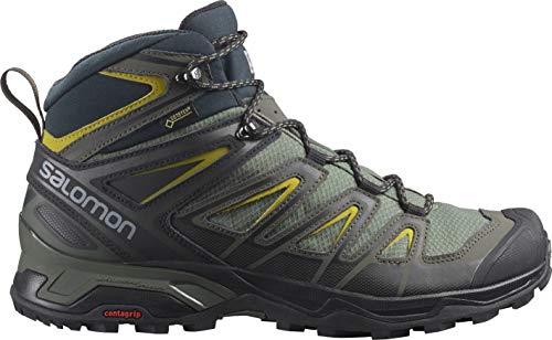 SALOMON Herren Shoes X Ultra 3 Wide Mid GTX Gra Bergschuhe, Grau (Castor Grey/Black/Green Sulphur), 49 1/3 EU