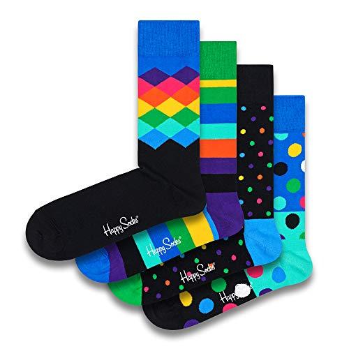Happy Socks farbenfrohe & verspielte Stripe Geschenkboxen für Männer & Frauen, Premium-Baumwollsocken, 4 Paare, Größe 36-40.