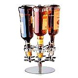 6 Bottle Rotated Mounted Home Bar Butler Liquor Dispenser...