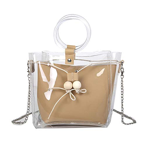 Monbedos Women's Handbag Transparent Handbag Ladies Shoulder Bags Suitable for All Women