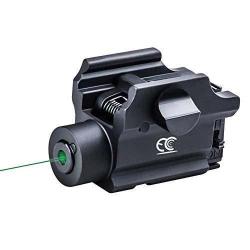 MCCC Green Laser Sight for Handguns,Rifles,Shotguns Picatinny Rail Dot Adjustable with Remote Pressure Switch Gun Accessories