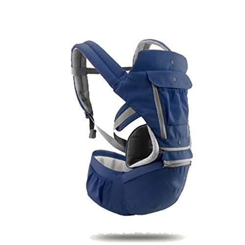 HWZZ Portabebés para Bebés Tipo De Retención Frontal Multifuncional Cuatro Estaciones Ventilación General Kid Hipseat Sling para Viajes De Bebé De 0 A 36 Meses,Azul