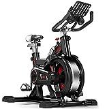 Cyclette Cyclette per Casa Gym Spinning Bike Bicicletta per Il Tempo Libero Silenziosa al Coperto Bicicletta Dimagrante per Il Fitness Cyclette Regolabile (Color : Black, Size : 89 * 26.5 * 102cm)