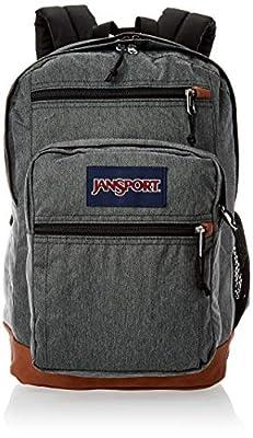 JanSport Cool Student 15-inch Laptop Backpack - Classic School Bag, Black White Herringbone