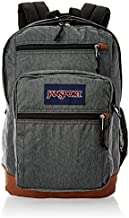 JanSport Cool Student 15-inch Laptop Backpack - Classic School Bag, Black White Herringbone