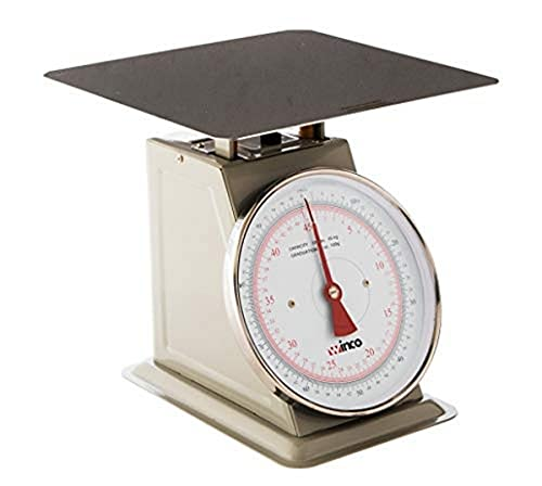 scales Winco SCAL-9100 100-Pound/45.45kg Scale with 9-Inch Dial