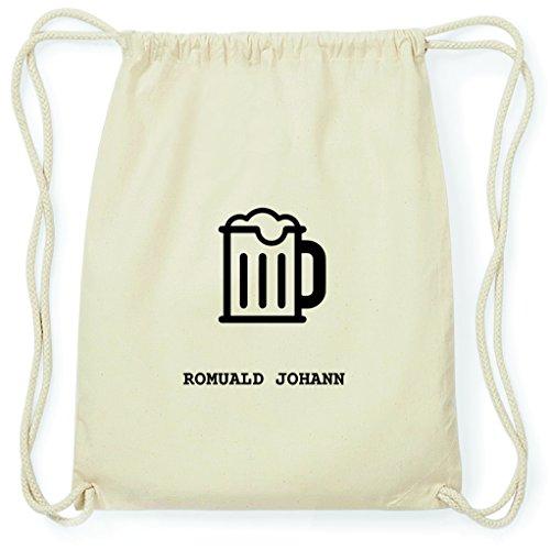 JOllify Turnbeutel - Happy Birthday - für ROMUALD Johann - Bier Gruß