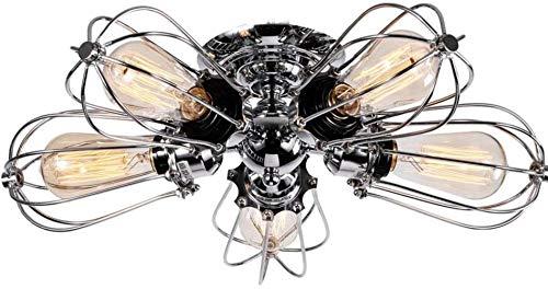 Plafond ijzer oude grote zwaailicht retro wandlamp brons wrijving olie industriële hanglamp 4 licht hek halfintegrale koffielandbouwbedrijf salonlamp (1 pakket)