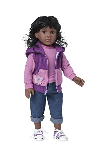 Starpath African American Girl Doll – Premium 18' Vinyl Toy, Fits American Girl Doll Clothes