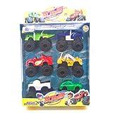SENZHILINLIGHT 6 unids/lote monstruo máquinas Rusia Kid juguetes Blaze milagro coches Blaze vehículo coche juguetes con caja original mejores regalos