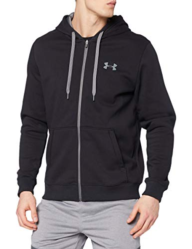Under Armour Rival Fitted Full Zip Sudadera, Hombre, Negro (Black/Black/Graphite 001), S