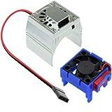 Powerhobby Cooling Fan for Traxxas Velineon VXl-3 ESC + 540/550 Heatsink Motor Fan Combo Silver FITS : Traxxas Slash/Stampede 2WD / RUSTLER/Bandit/Rally VXL
