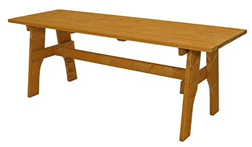 DEGAMO Gartengarnitur Freital XXL 3-teilig 200cm, 2X Bank 200cm und 1x Tisch 70x200cm, Kiefer imprängiert - 3