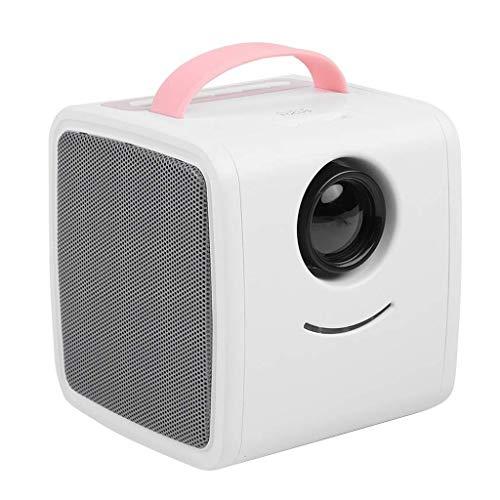 ZHSHML TYYJY Mini proyector portátil LED LCD proyector, compatible con Full HD, proyector de cine en casa al aire libre regalos para niños (color rosa