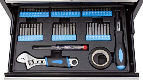 Karcher Werkzeugkasten – 117-teiliges Werkzeugset aus Chrom Vanadium & Karbonstahl mit Hammer, Schraubendreher, Steckschlüssel, Bitsatz uvm. - 5