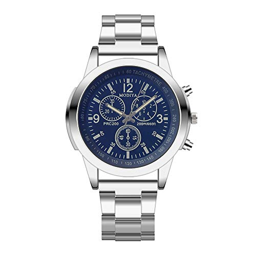 XshuaiRTE Herrenuhren,Armbanduhren für Herren,Uhren, Quartz Stainless Steel Men'sWatch Herren Uhren Männer Chronograph Sport Business Mode Lässige Datum Analoge Uhr (A)