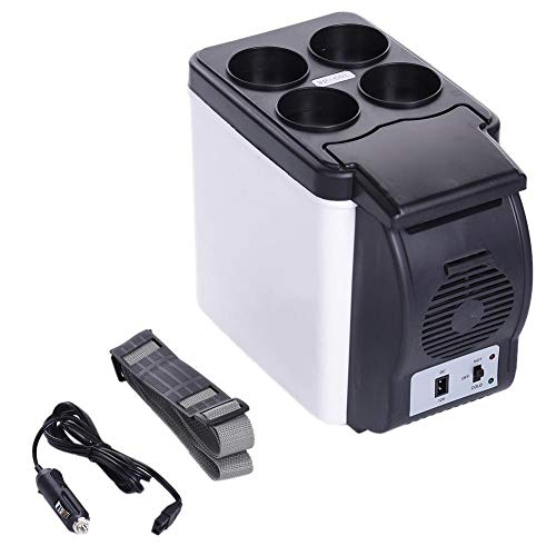 GYGJXIZ-Zbxxx Refrigerator, 6L Portable Outdoor Car Heating Cooling Box Case Car Fridge Double Use for Car and Home Plug and Play with Travel Convenient