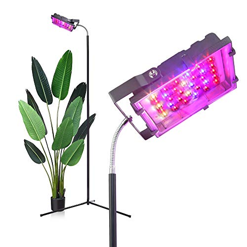 Grow Light with Stand, 18-72 inches, Dommia 250W Full Spectrum LED Floor Plant Light for Indoor Plants, Grow Lamp with Tripod Stand & Gooseneck, Sun Lamp for Plants, Seedlings, Indoor House Plants